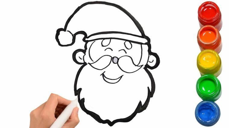 Barattoli Con Colori Acrilici Disegni Da Copiare Babbo Natale Con