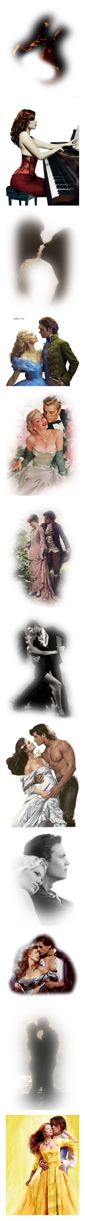 """""""Together"""" by mt3fisher ❤ liked on Polyvore featuring backgrounds, couples, effects, faces, people, music, tubes, cinderella, black and white and tube couple"""