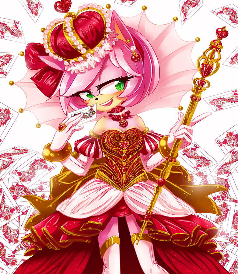 This Is A Queen Of Hearts Card Design I Created For Another