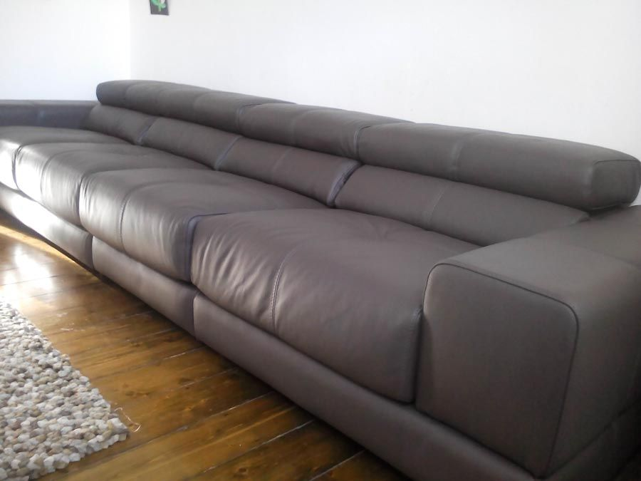 Sake large #4-seater #sofa combination in leather. As ...