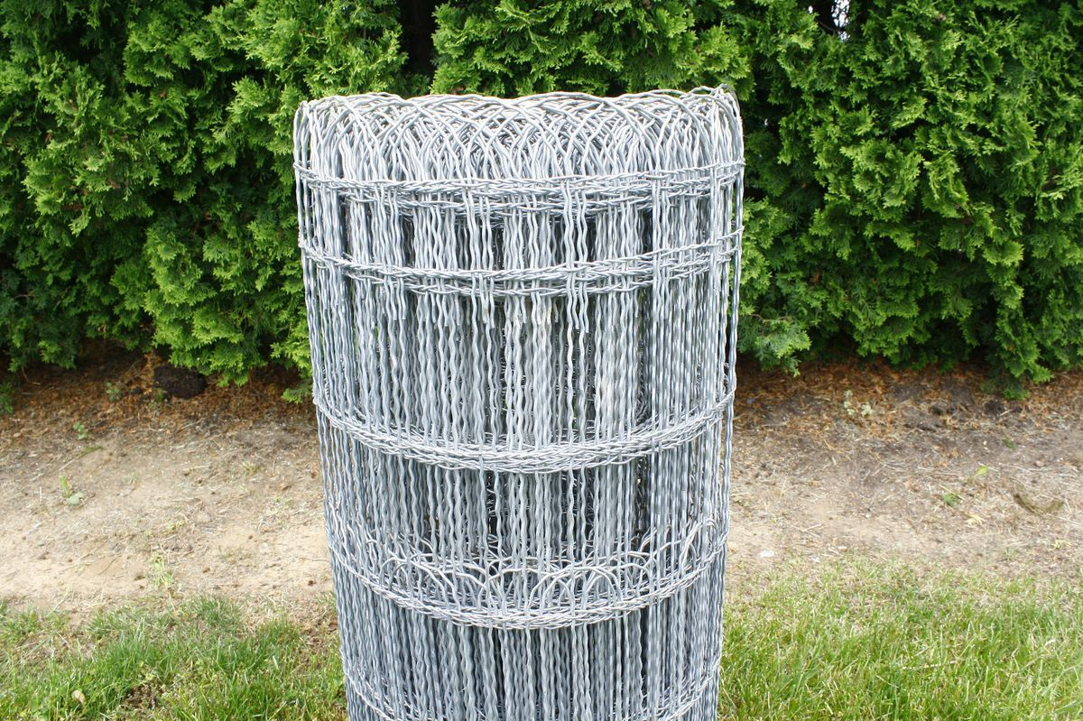 Ornamental Loop Fence Decorative Woven Wire Fencing Galvanized Metal ...