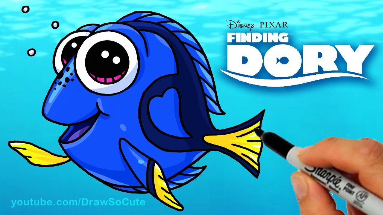 How To Draw Dory Step By Step Cute From Disney Finding