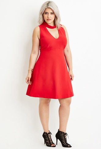 0571cec39ac Plus Size Cutout-Back Mock Neck Dress