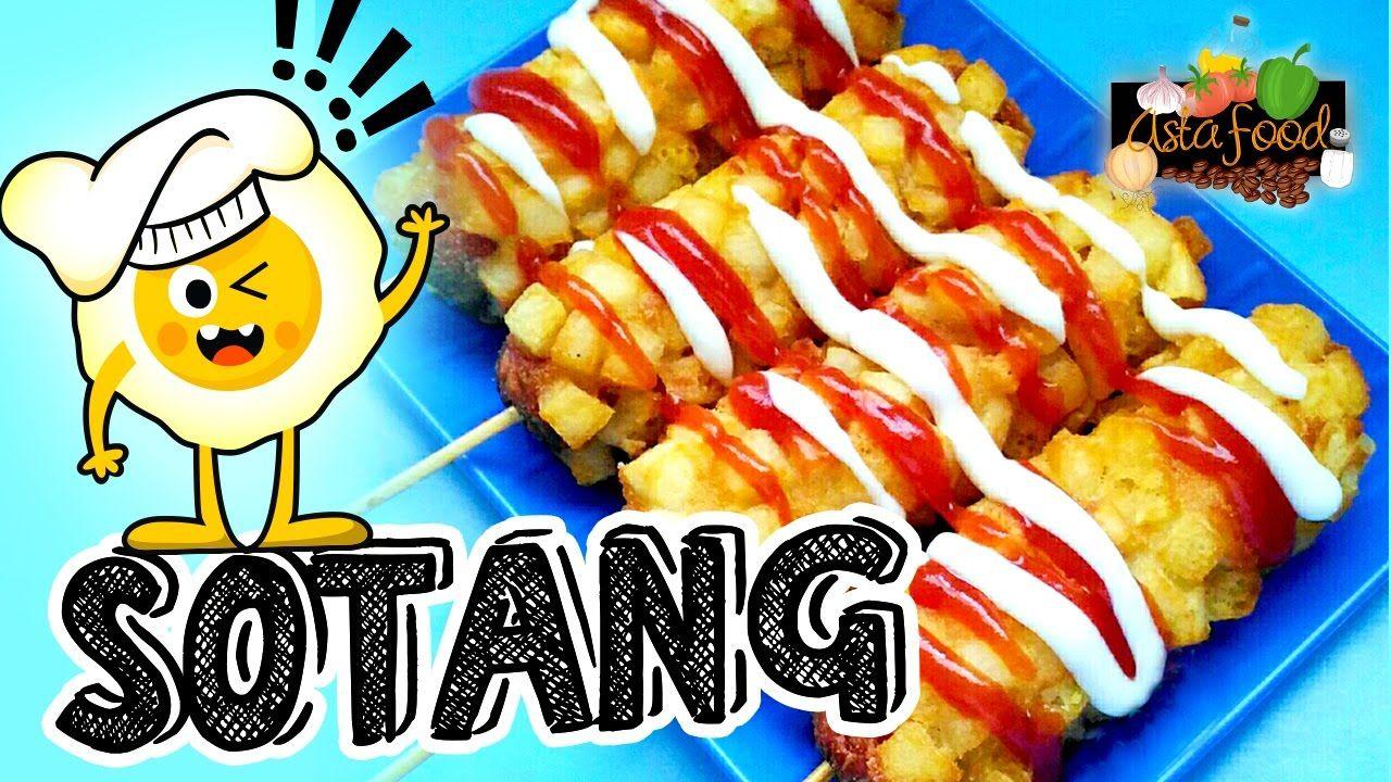 Sotang Sosis Kentang Fried Sausage With Potatoes Eng Subtitle Ast Food Fried Sausage Hot Dogs