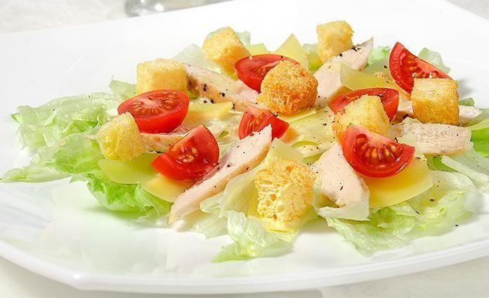 Салат Цезарь с курицей - пошаговый рецепт с фото | Салат ...