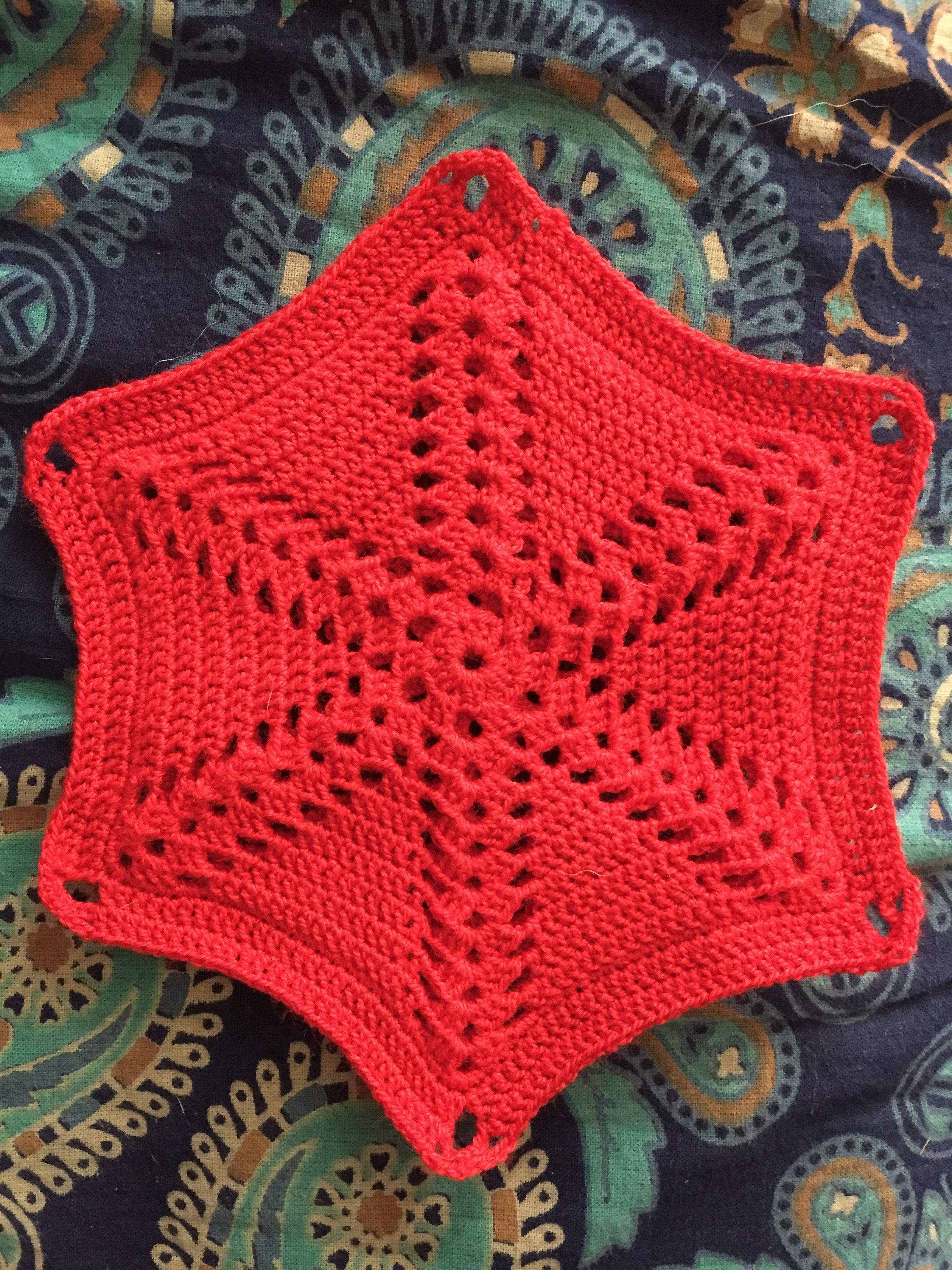 Free Pattern for a 1950s Spoke Motif. Can be a pan holder, afghan ...