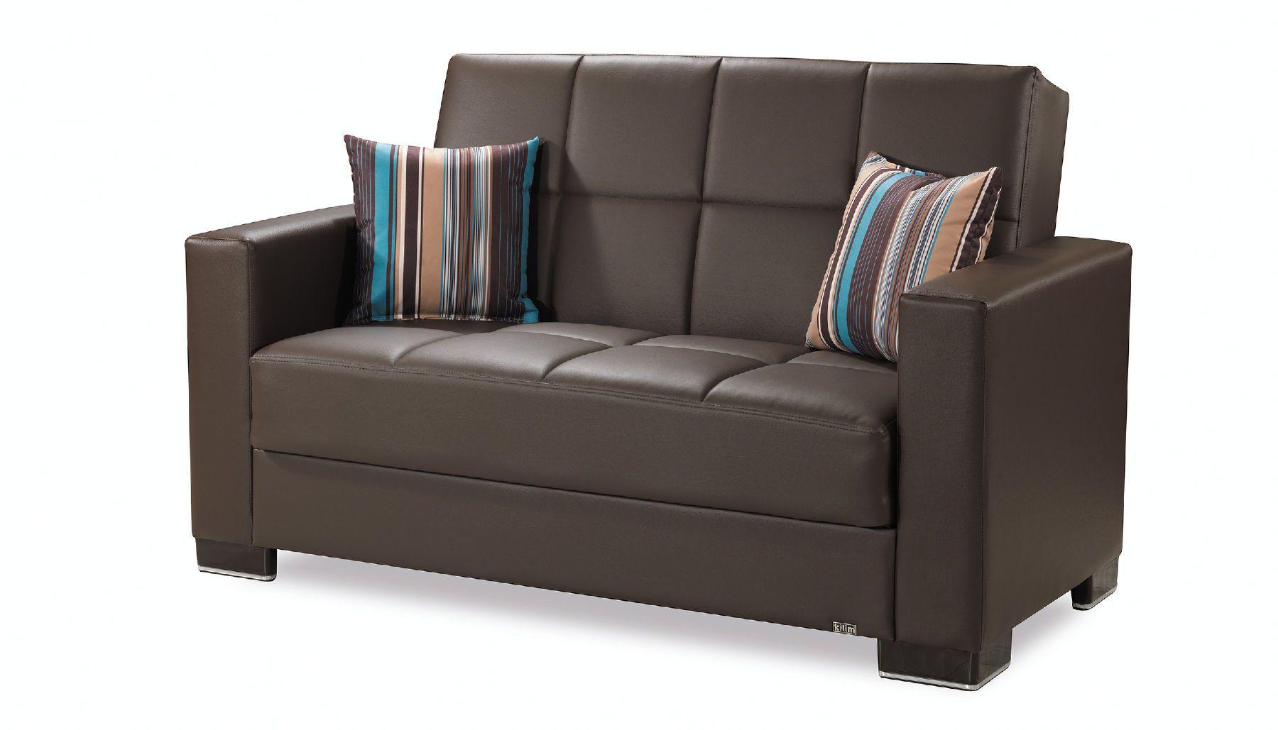 Outstanding Casamode Armada Brown Pu Leatherette Loveseat W Storage Pabps2019 Chair Design Images Pabps2019Com