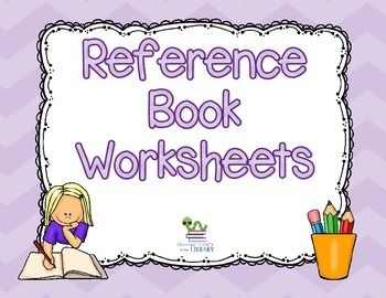 Reference Book Worksheets And Assessment Reference Book Worksheets Library Skills