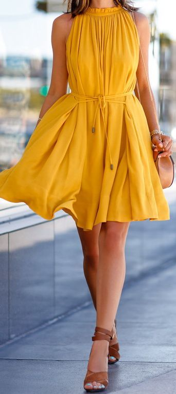 Banana Republic pleated halter dress.