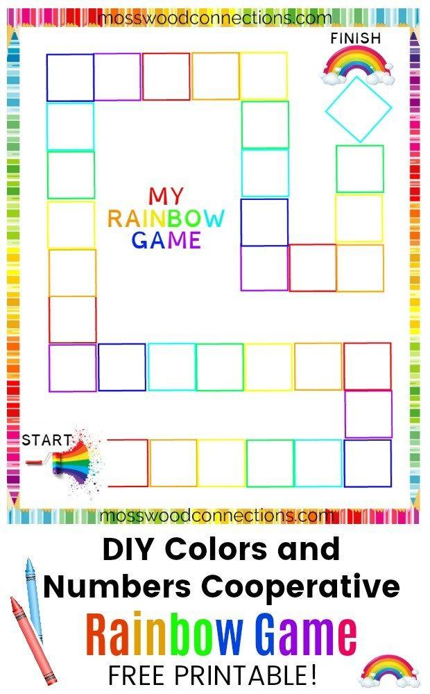 Rainbow Game: DIY Board Game | Homeschool Resources | Kids ...