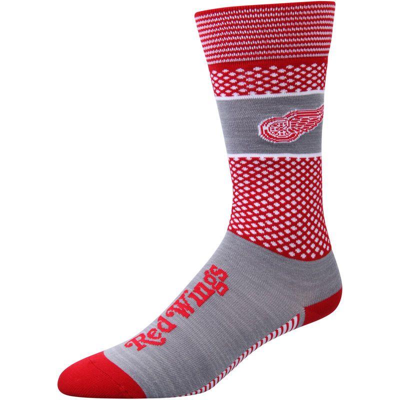 Detroit Red Wings For Bare Feet Women's Mojo Crew Socks