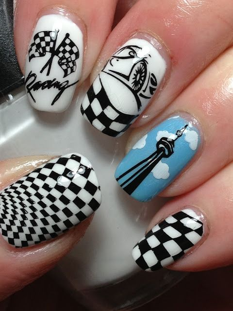 Indy 500 Nails! - My Nails | Pinterest