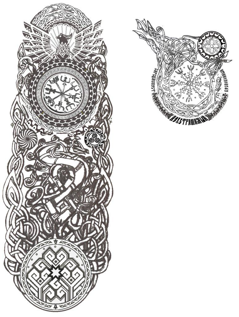 Slavic Caucasus Norse Germanic Celtic Ocean Tattoo By Kara Alvama D60p2uw Png 776 1028 Norse Tattoo Viking Tattoo Sleeve Slavic Tattoo