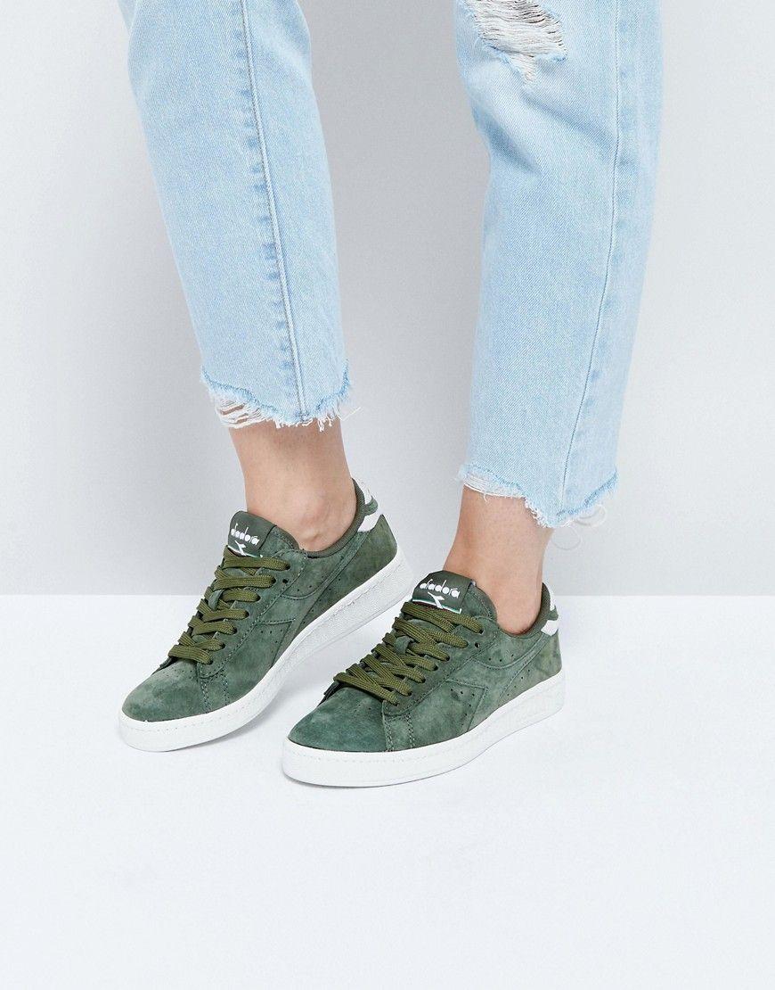88979229a1 DIADORA GAME LOW SNEAKERS IN KHAKI SUEDE - GREEN. #diadora #shoes ...