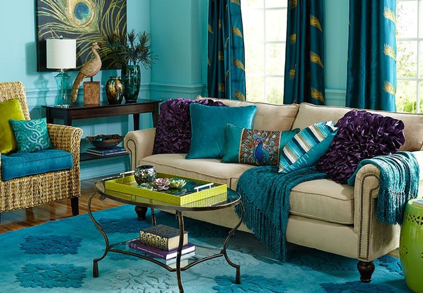 Image Result For Peacock Room Decor Ideas Peacock Room Decor Wallpaper Living Room Peacock Living Room #peacock #decor #living #room