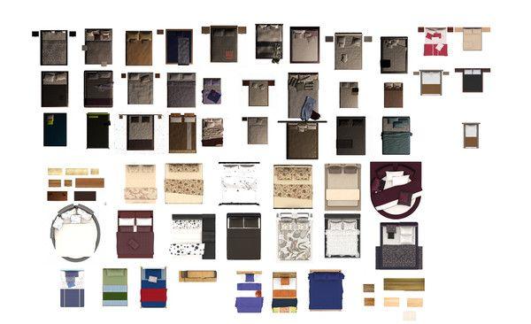 Texture Psd Bedroom Furniture 2d Dokular Yatak Odasi