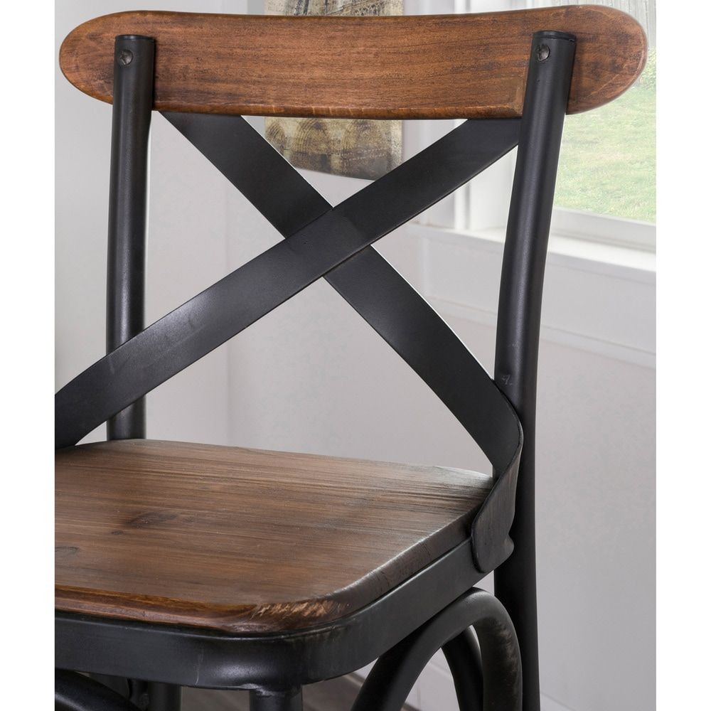 Admirable Dixon Reclaimed Wood And Iron 24 Inch Barstool By Kosas Home Gamerscity Chair Design For Home Gamerscityorg