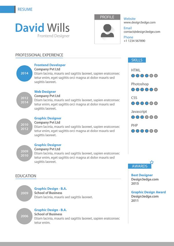 Professional Creative Resume Templates Design - http\/\/www - free resume download in word format