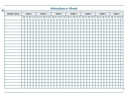 Image result for monthly attendance sheet for home daycare | Home ...