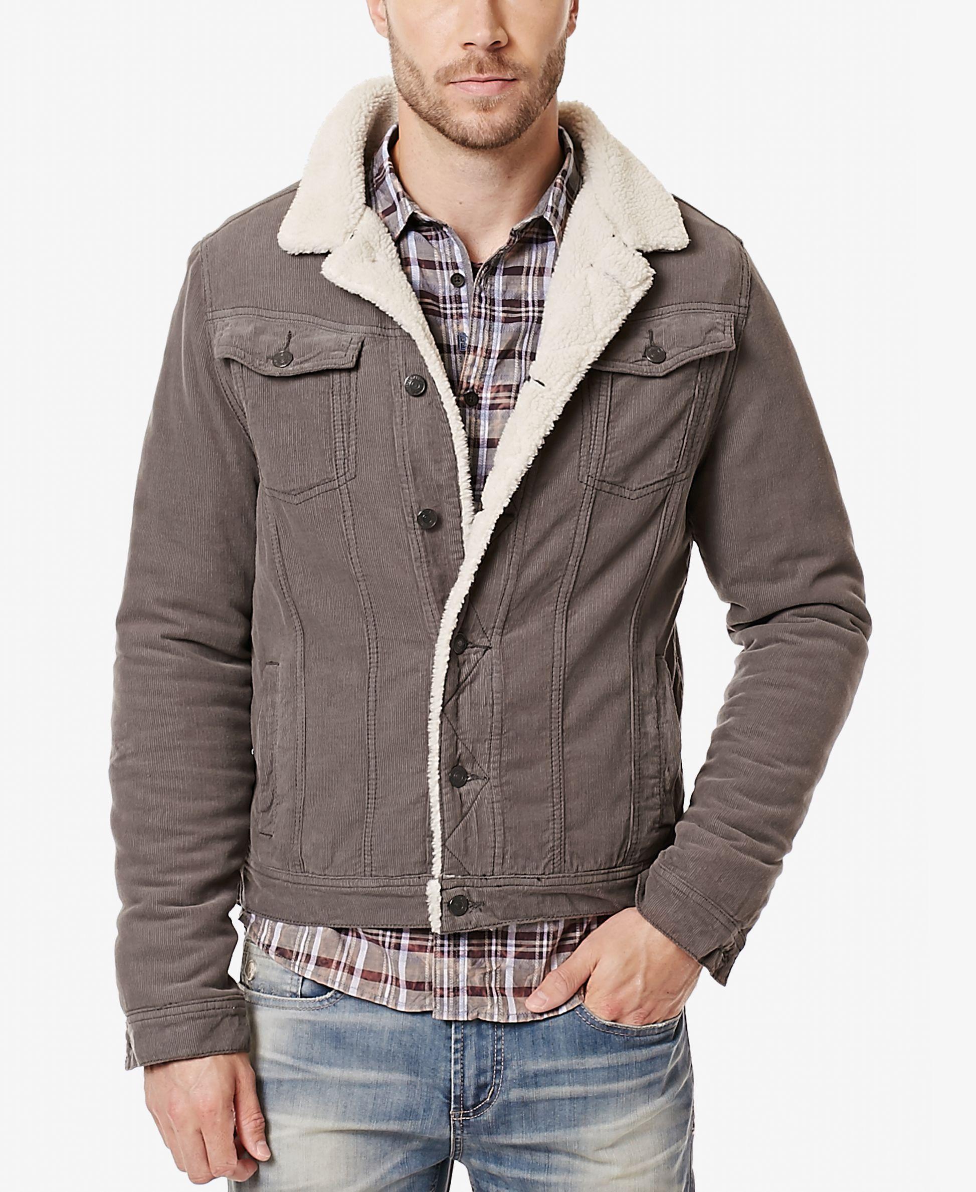 Buffalo David Bitton Men S Joe Jacket With Faux Fur Lining Jackets Mens Jackets Corduroy Jacket [ 2378 x 1947 Pixel ]