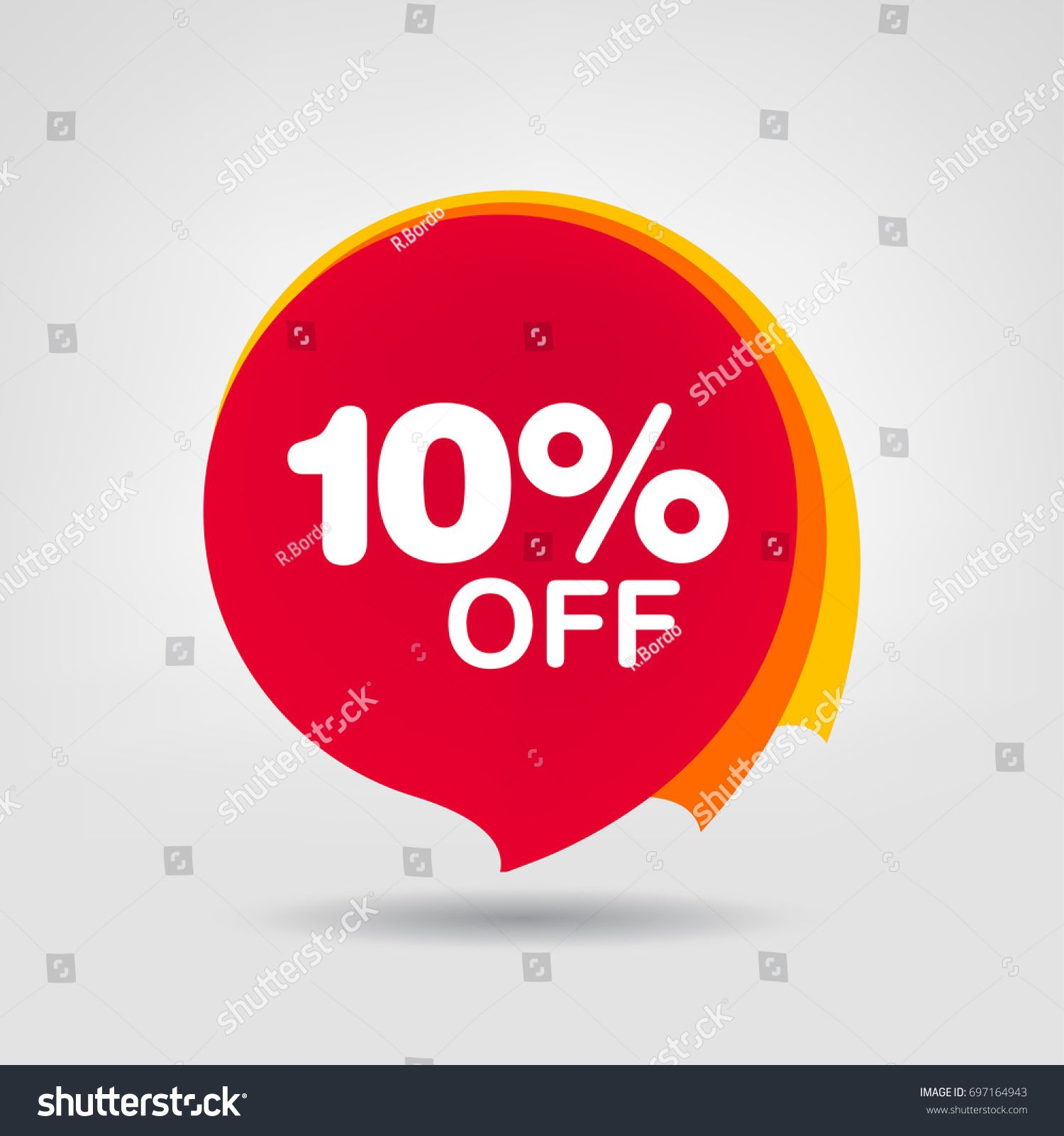 10 Off Sale Discount Banner Discount Offer Price Tag Special