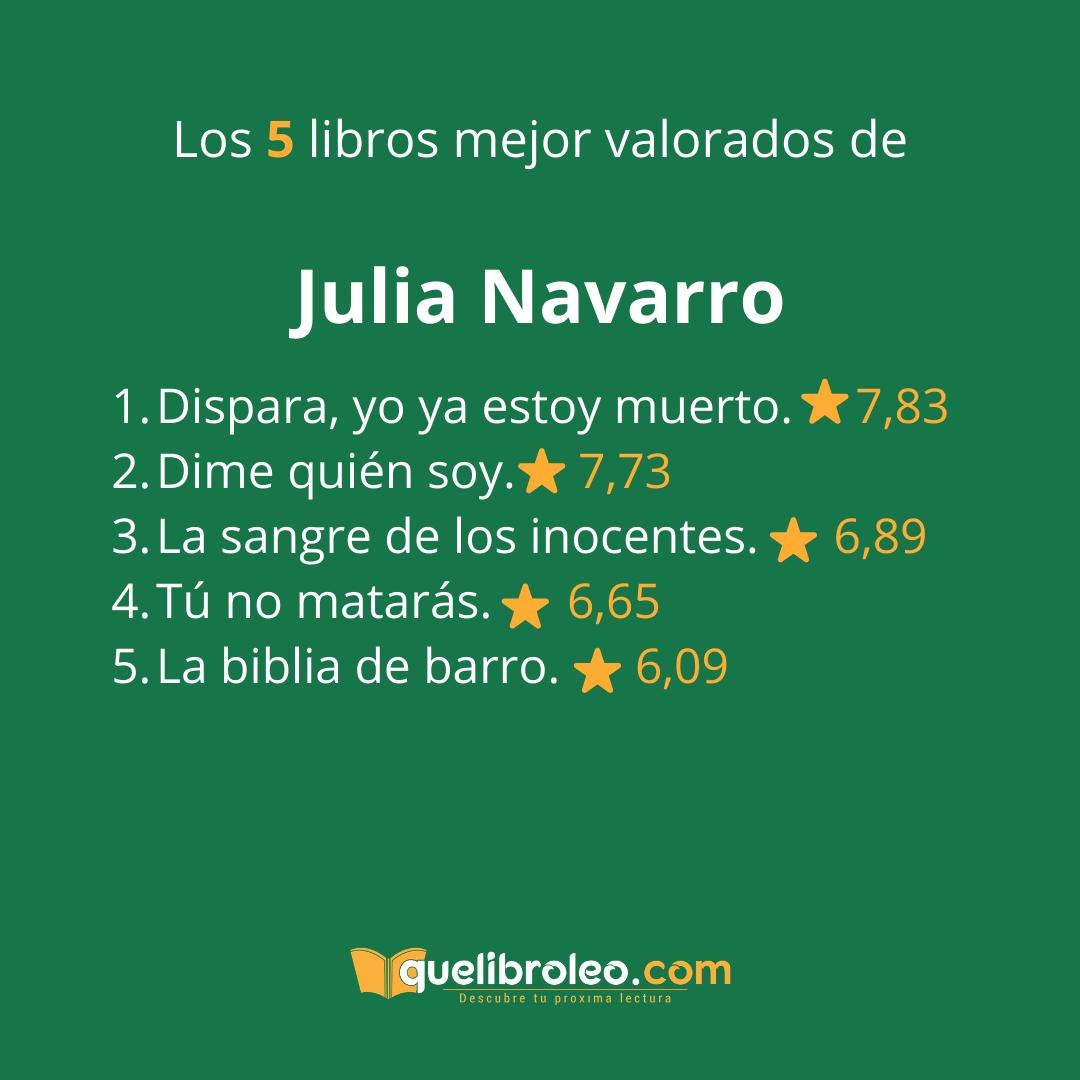 Los 5 Libros Mejor Valorados De Julia Navarro Oficial Estás De Acuerdo Puedes Ver Notas Y Opiniones De Todas Sus Novel Libros Novela Historica Lectura