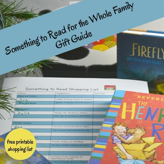 something to read for the whole family gift guide