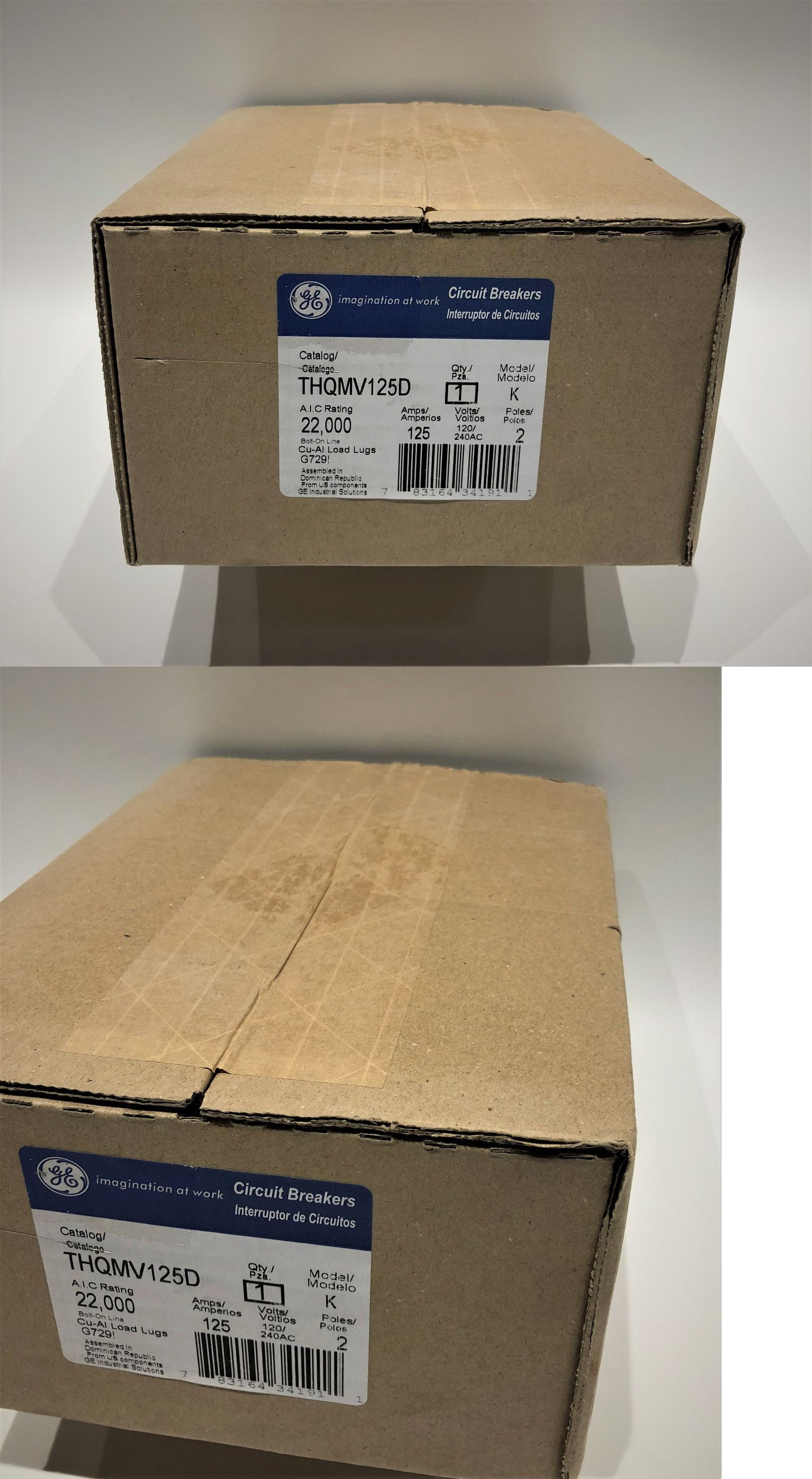 Brand New Factory Sealed Ge Thqmv125d Main Circuit Breaker Afci Box Including Breakers And Fuse Boxes 20596 Buy It Now Only 85 On Ebay