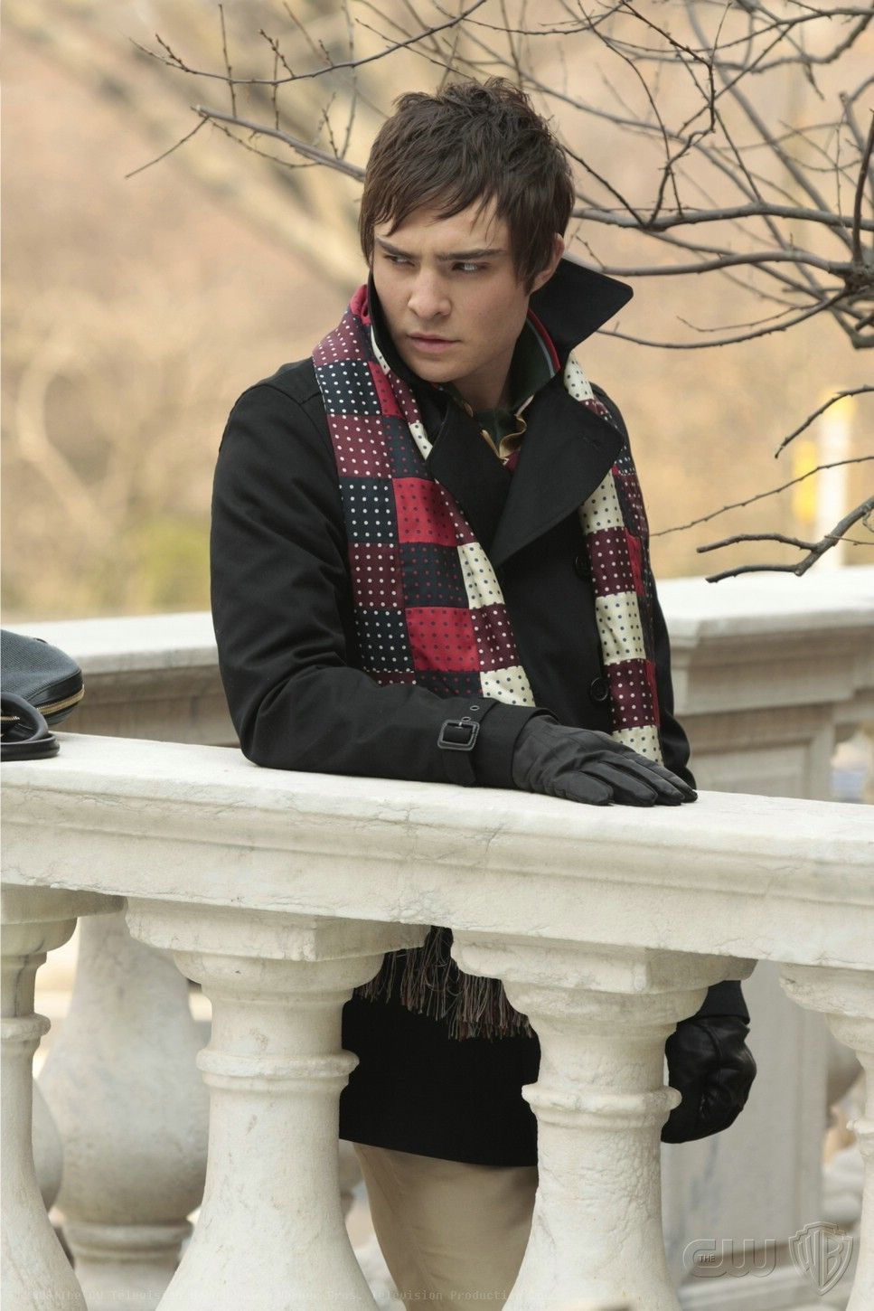 Ed Westwick as Chuck Bass with his infamous scarf.   Ed Westwick ...