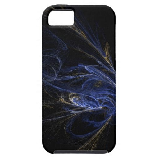 Blue, Gold, Black Abstract Art IPhone 5/5S Case