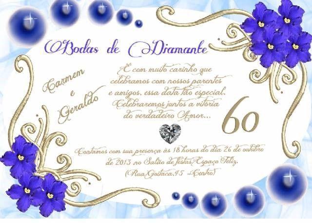 Convite De Bodas De Diamante Bodas Diamante Convite