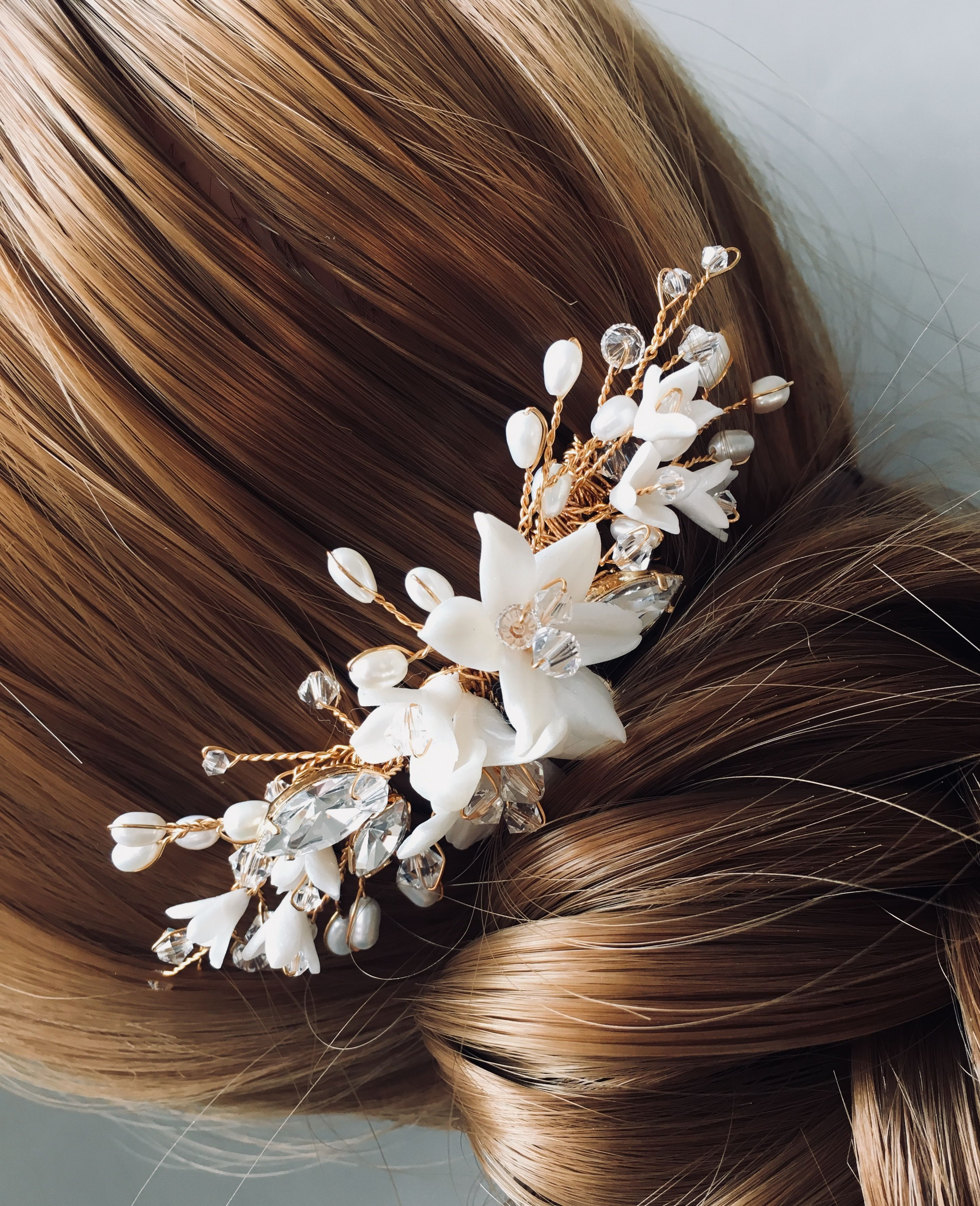 ivy&i floral hair comb   headdresses to love   pinterest   floral