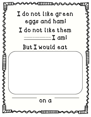 Green Eggs And Ham FREEBIE From Perfectly Preschool On TeachersNotebook