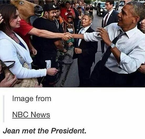 What the heck Jean?! You're supposed to be killing Titans not meeting the president!