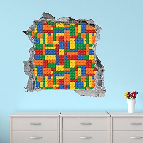 The Little Unique Boutique Lego Building Block Wall Sticker High - Lego wall decals vinyl