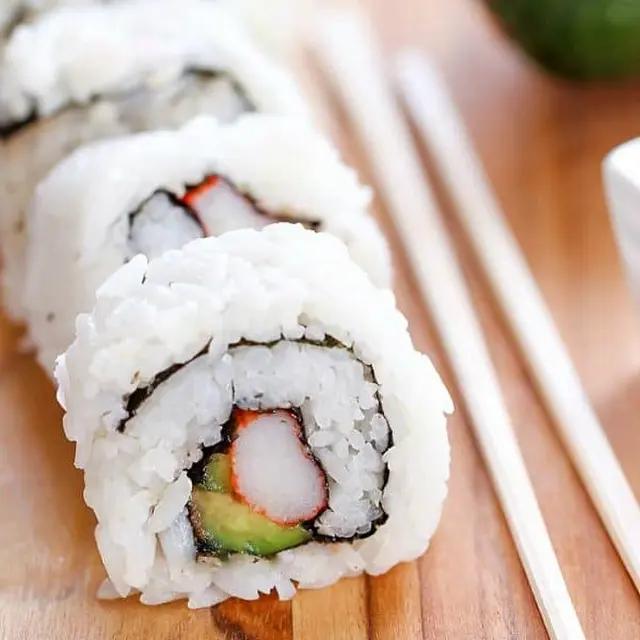 California Sushi Rolls Recipe Yummly Recipe Sushi Recipes Sushi Recipes Homemade Sushi Roll Recipes
