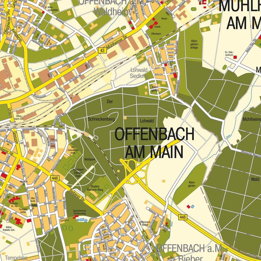 Offenbach Am Main Karte Deutschland Deutschland Karte Offenbach