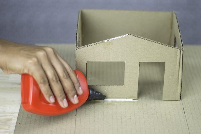 How To Build A Cardboard Model House Cardboard Houses For