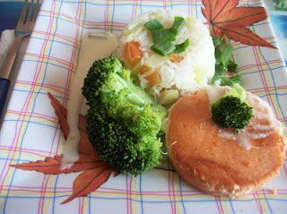medalhão de salmão delicioso