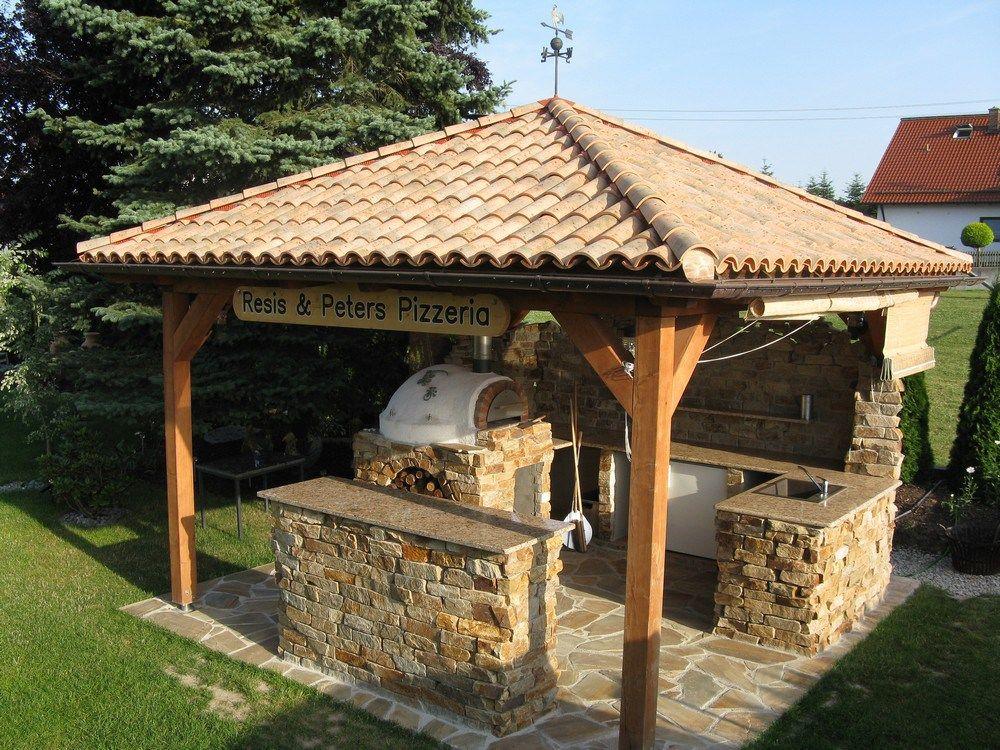 So entsteht eine Grillstelle im Garten mit südländischem ...