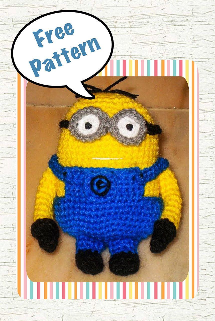 free despicable me minion amigurumi crochet pattern | Juguetes ...
