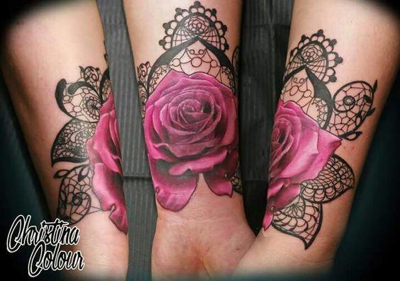 laced rose forearm tattoo tattoo pinterest id e tatouage tatouages et id e. Black Bedroom Furniture Sets. Home Design Ideas