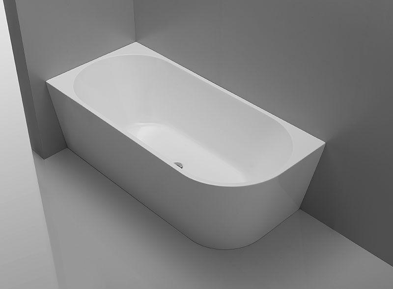 Kiato 1500 Back To Wall Freestanding Bath Left Corner Free