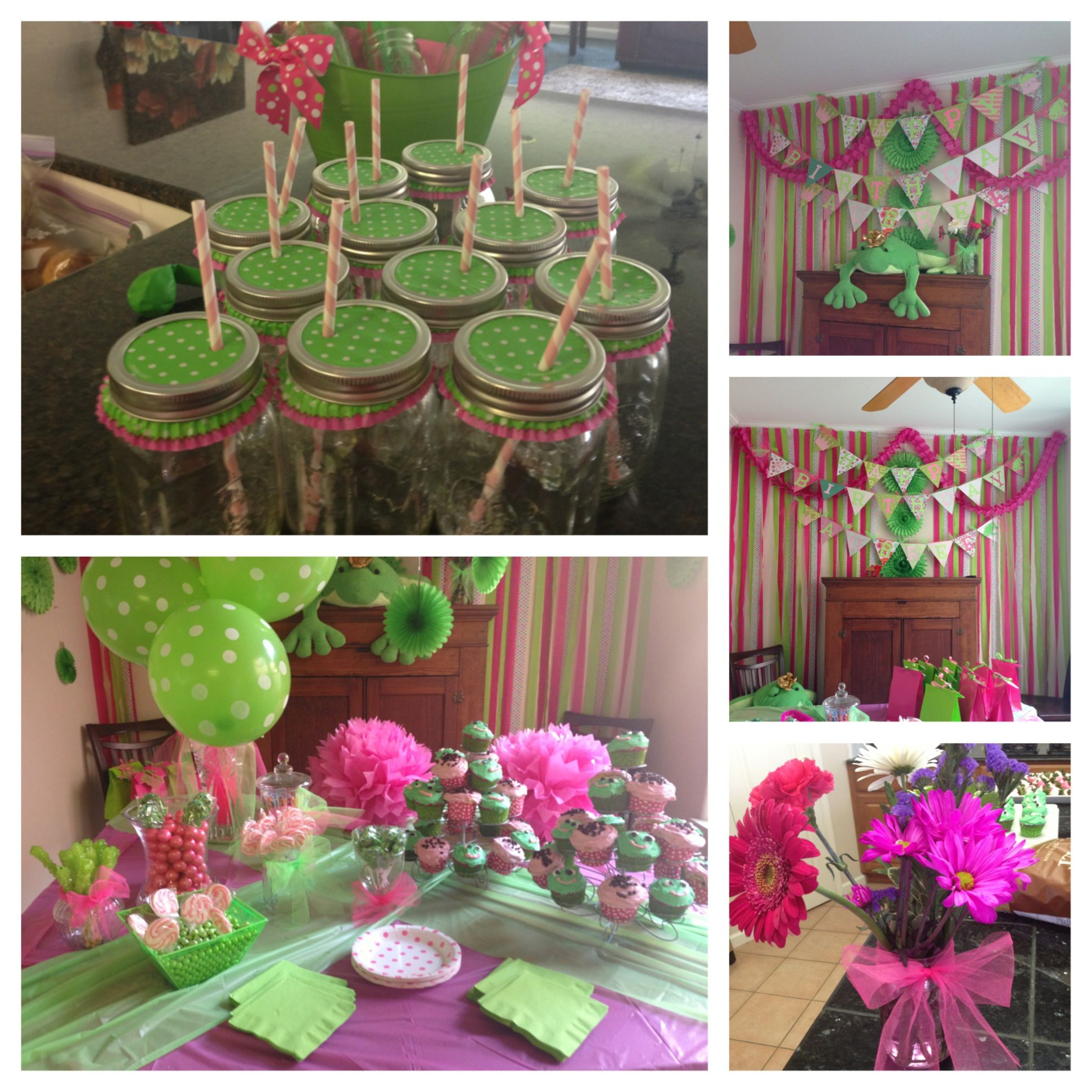 Little Girl Frog Themed Birthday Party. This Party Was For
