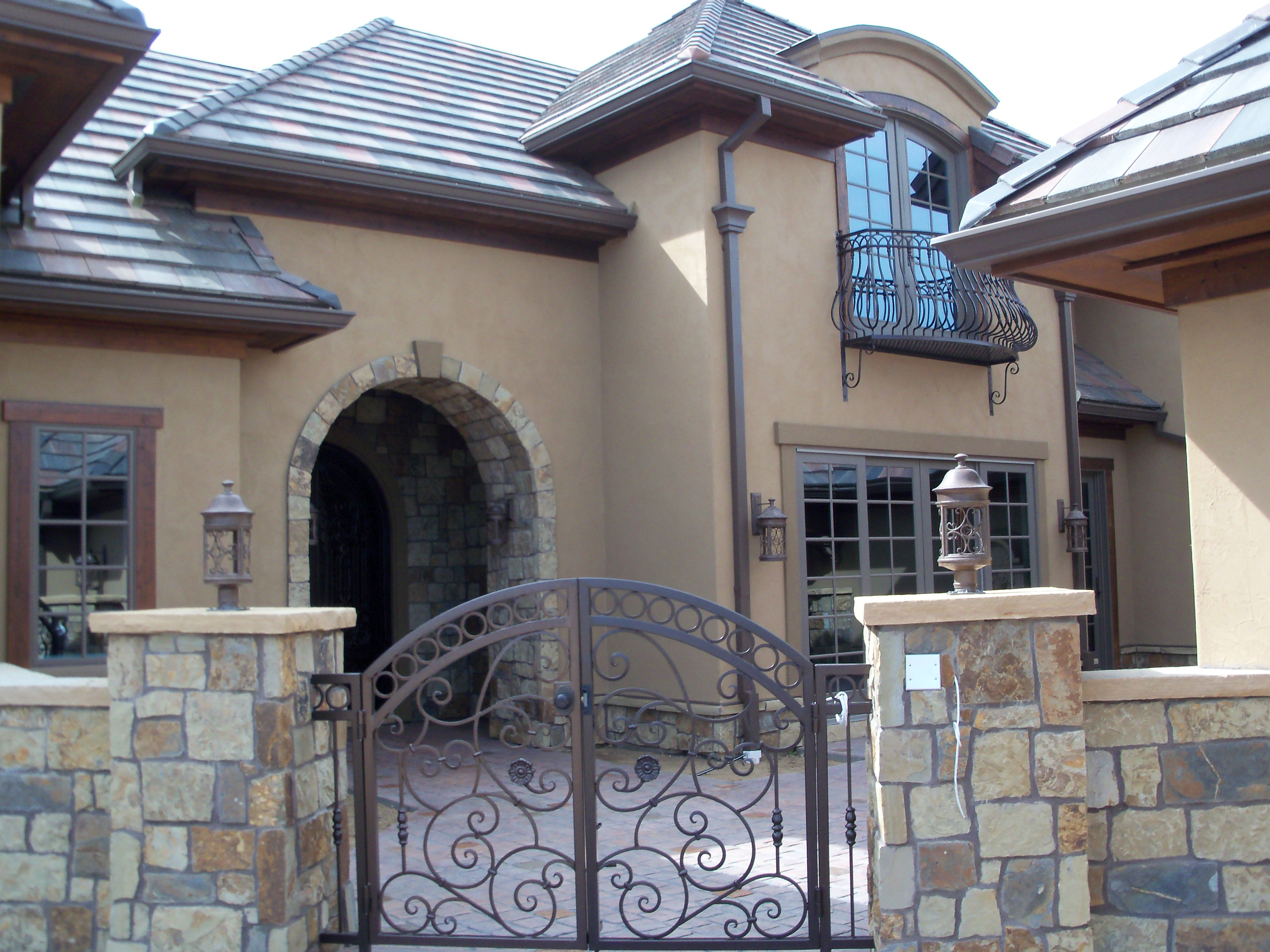 Brick And Stone Exterior Combinations Rock And Brick Combinations Victor 39s Stucco And Stone
