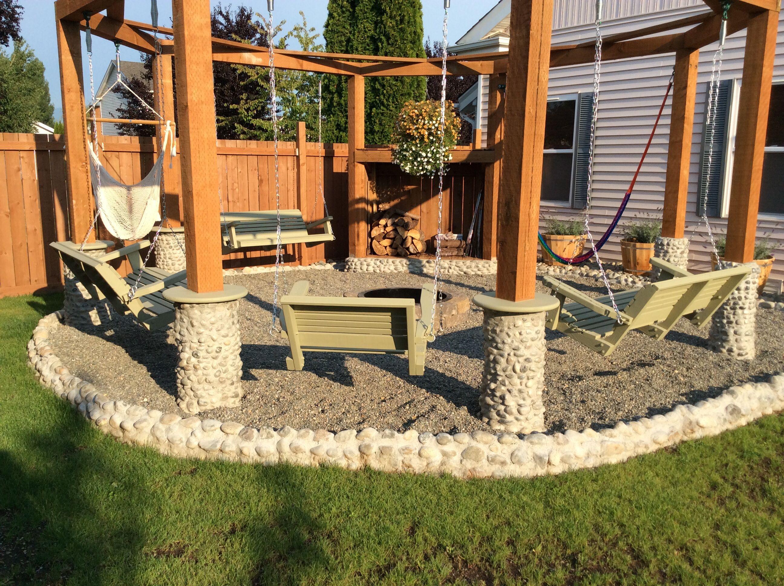 Fire pit decor backyard designs large fire pit focal pointsfire pit