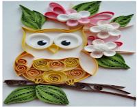 اعمال يدوية طريقة عمل لوحة فنية بالورق الملون Quilling Flowers Quilling Art Quilling