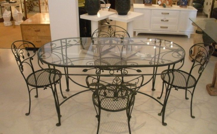 Glass And Wrought Iron Kitchen Table Sets With Images Kitchen