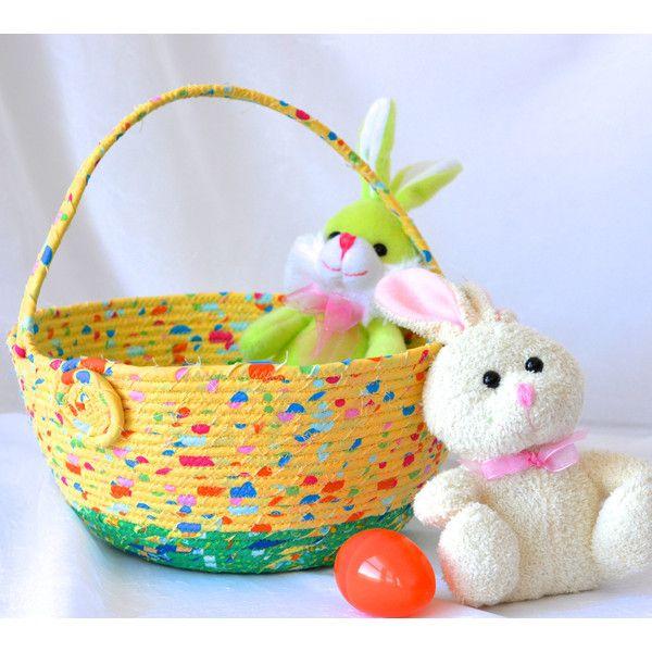 Easter basket handmade yellow easter bucket cute toy storage bin easter basket handmade yellow easter bucket cute toy storage bin negle Image collections