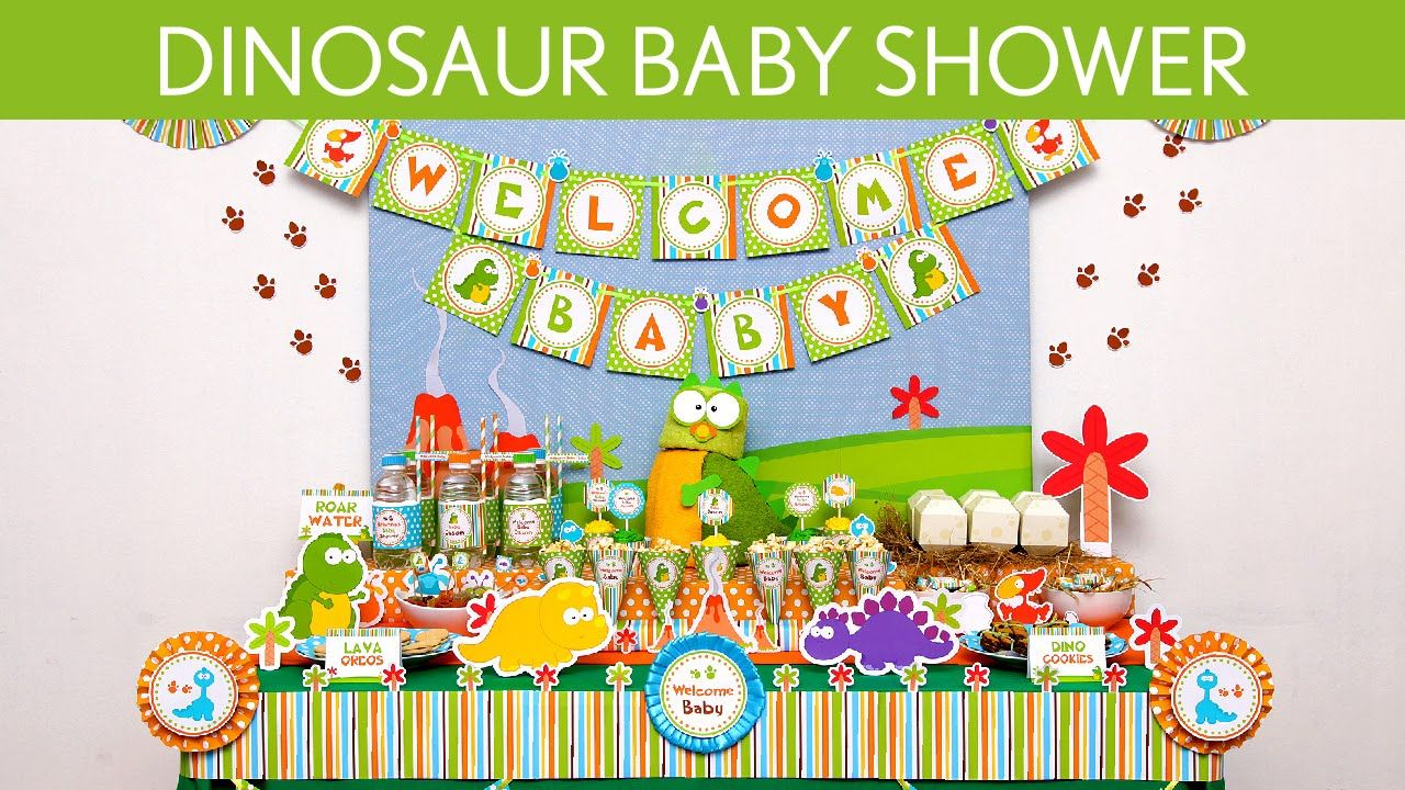 Awesome Free Printable Dinosaur Baby Shower Invitation Idea | FREE ...